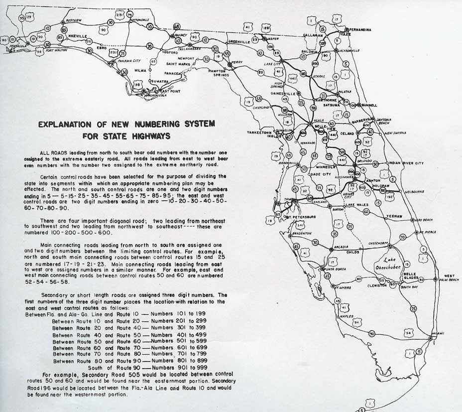 Southeast Roads AARoads Evolution Of Florida State Roads - Florida road map