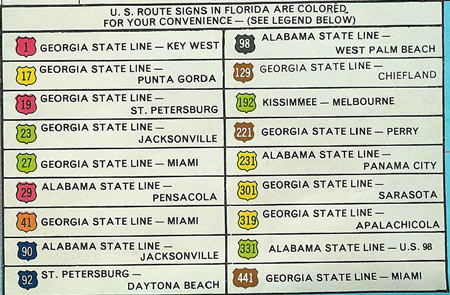 Florida SouthEastRoads US Highways In Florida - Us 19 florida map