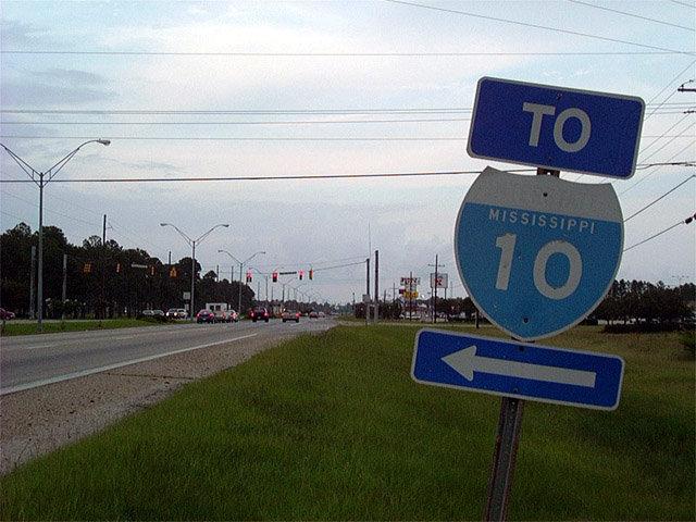Mississippi SouthEastRoads US Highway Eastbound - Us 90 road mississippi map