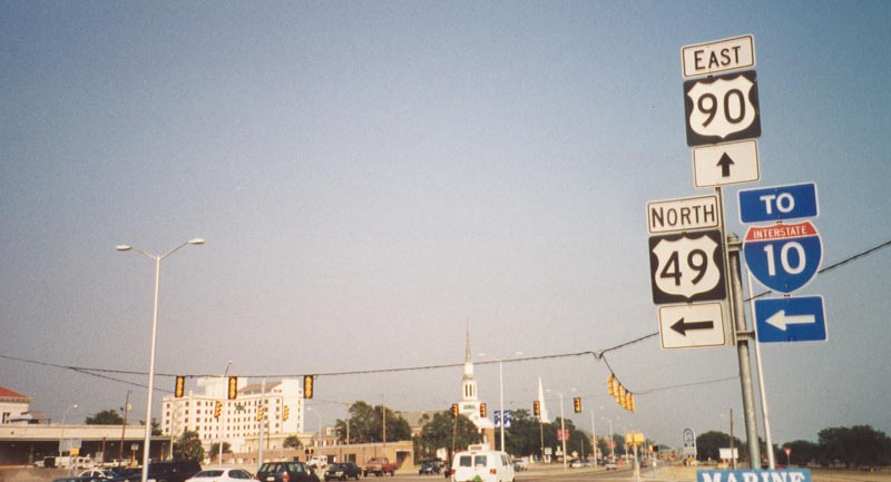 Mississippi SouthEastRoads US Highway Eastbound - Hwy us 90 mississippi map