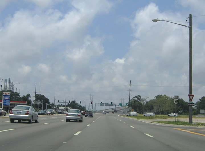 Mississippi SouthEastRoads US Highway Westbound - Hwy us 90 mississippi map